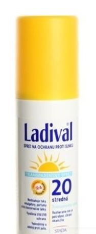 Ladival Transparent Spray transparentní sprej na ochranu proti slunci 20LF 150 ml