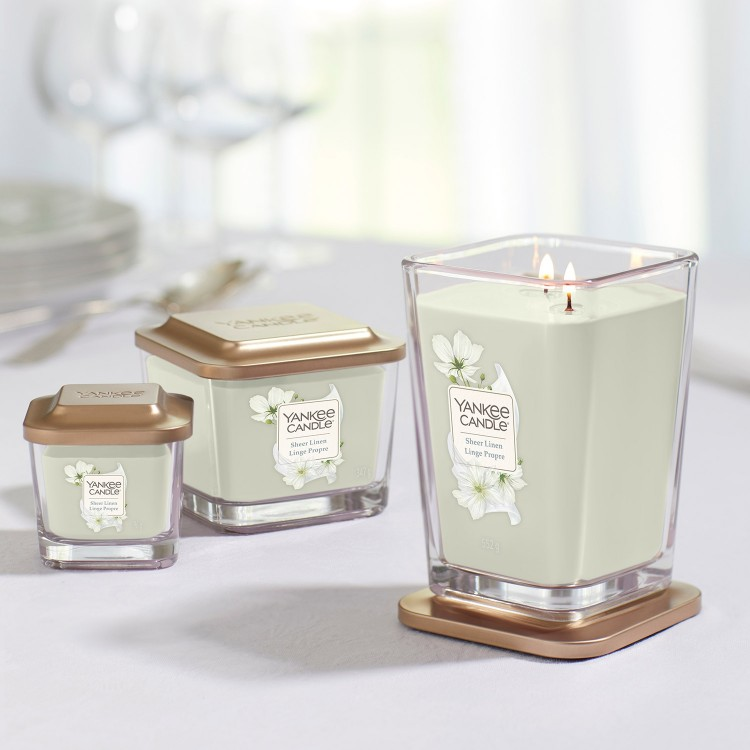 Yankee Candle Elevation - Sheer Linen 552 g